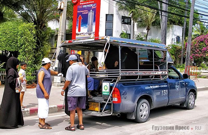Самый распространённый вид общественного транспорта в Таиланде – джипси. В курортной Паттайе они осуществляют 95% всех городских перевозок и, как правило, изготовлены из Isuzu D-Max, выпускаемых местным филиалом GM