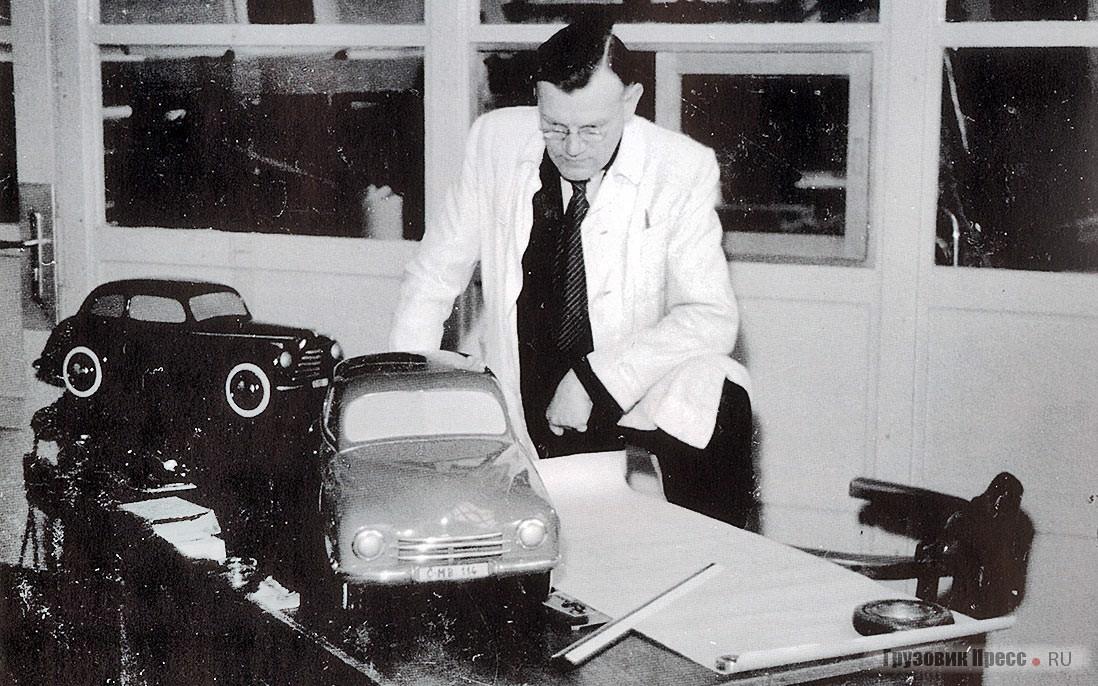 The chief designer of the body AZPN Joseph Velebny the ambitious post-war models of Skoda cars