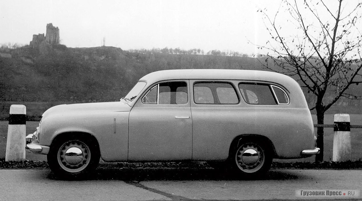 Experienced Škoda 1200 station wagon (type 955) was built on the chassis of Škoda 1102 (type 938) with a shorter wheelbase