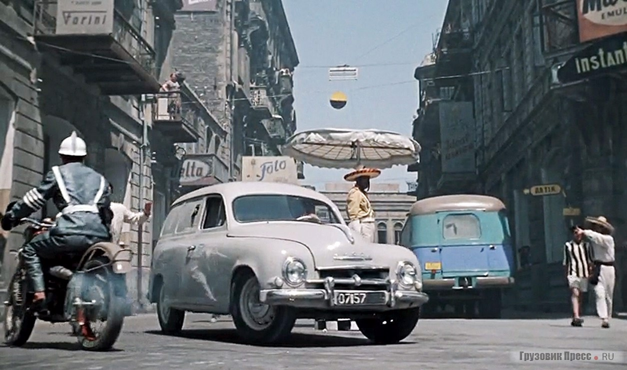 """Vans Škoda can claim the title of best supporting actor in the Soviet cinema of the 1960s: """"Come tomorrow"""", """"the Secret of the iron door"""", """"July rain"""", """"the Tale of time lost"""", """"the snow fairy tale"""", """"the Extraordinary adventures Bears strekacheva"""" and others. In the picture – a frame from the film """"the amphibian Man"""", directed by Gennady Kazansky and Vladimir Chebotaryov Lenfilm 1961"""