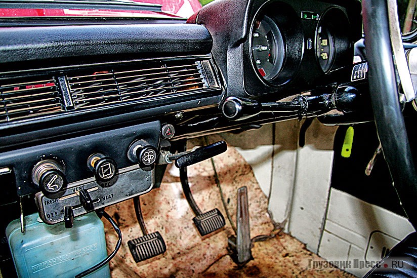 All the controls are familiar and usual to those who have ever driven a car of the 1970-ies...