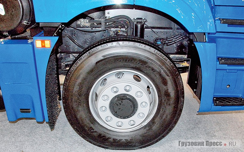 The hoses are easily seen through niche wheels