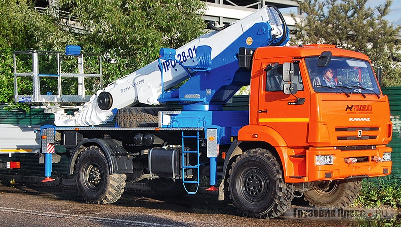 The aerial truck-mounted platform VIPO-28-01 on chassis KAMAZ-43502