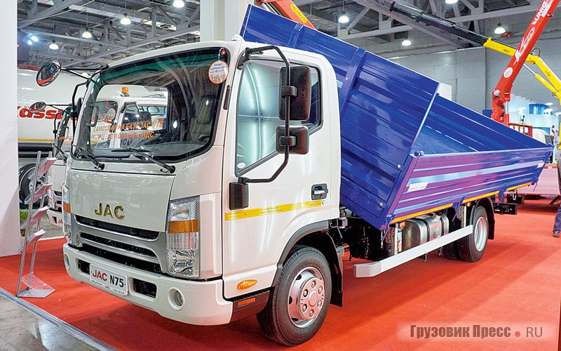 """Dump truck model """"6046JZ"""" from AZ """"GATH"""" on the chassis of JAC N75 (N721)"""