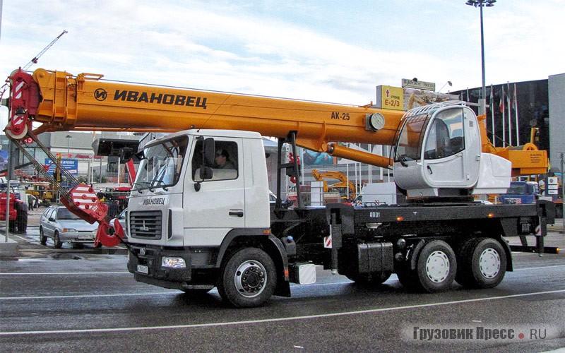 25-ton crane KS-45717A-1P (AK-25) on chassis MAZ-6312C3...