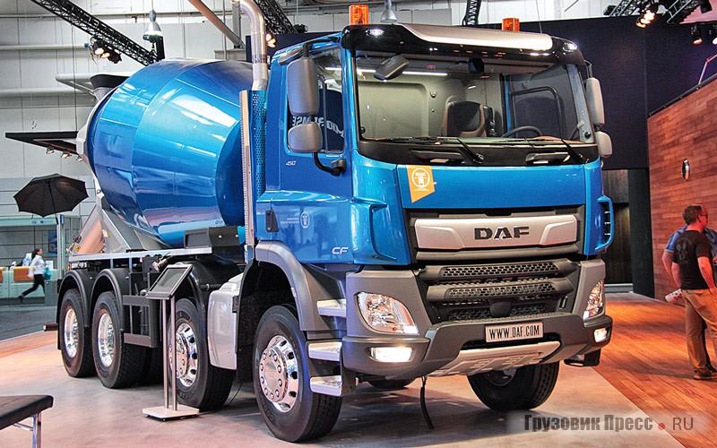 DAF CF 450 с колёсной формулой 8x4 и бетономешалкой Liebherr