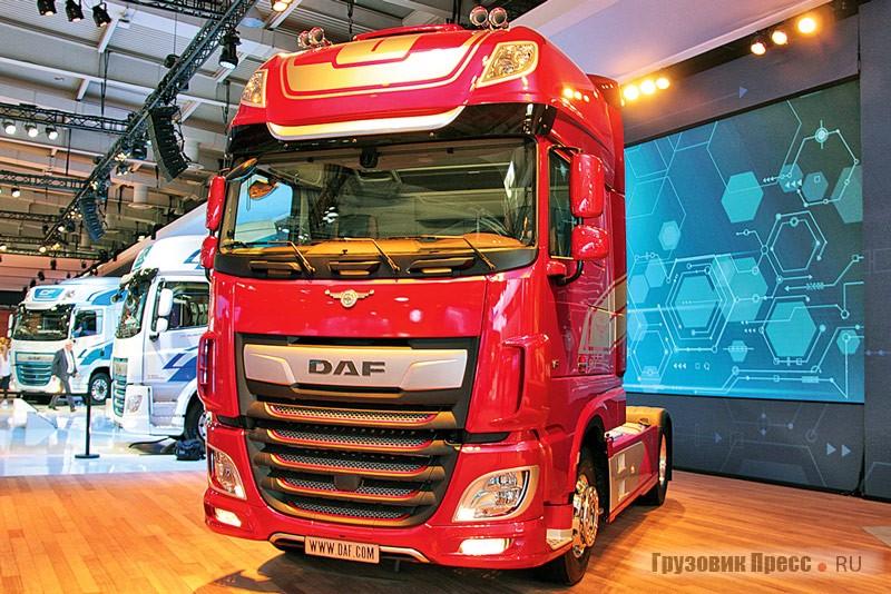 Юбилейная версия тягача XF в честь 90-летия DAF с колёсной формулой 4x2 и кабиной Super Space Cab – ограниченная серия