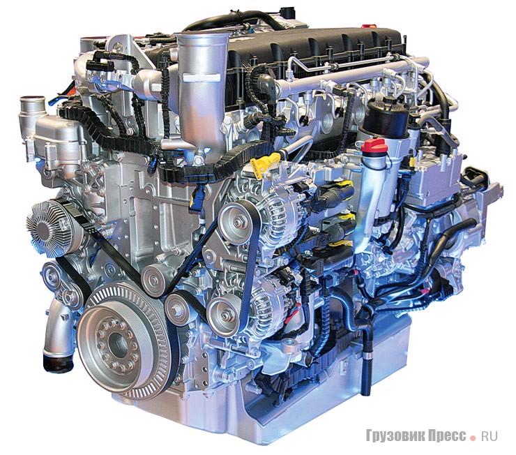Семейство двигателей PACCAR перекрывает потребности всей линейки грузовиков DAF: рабочий объём четырёхцилиндровых моторов начинается от отметки 4,5 л и доходит до 13 л у двигателей I-6