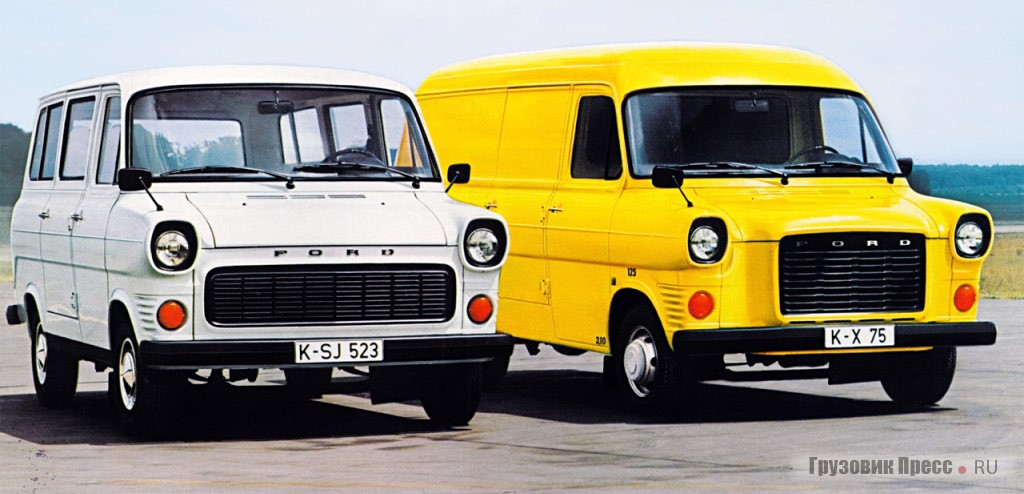 Ford Transit FT125 (1971 года) и Ford Transit FT175 3,0l Essex, 1972 г.